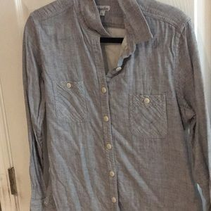 Steven alan blue linen button down